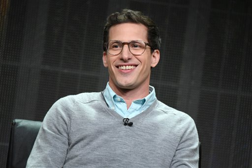 """Andy Samberg participates in the """"67th Emmy Awards"""" panel at the Fox Summer TCA Tour at the Beverly Hilton Hotel on Thursday, Aug. 6, 2015, in Beverly Hills, Calif. (Photo by Richard Shotwell/Invision/AP)"""