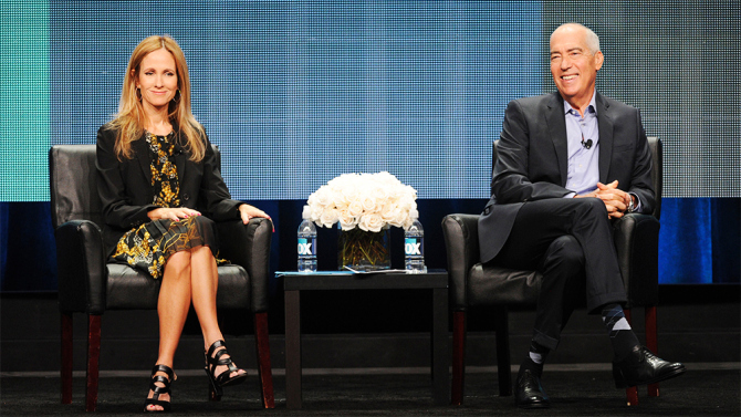 2015 FOX SUMMER TCA: Dana Walden, Chairman and CEO, Fox Television Group and Gary Newman, Chairman and CEO, Fox Television Group answer questions from TCA members during the 2015 FOX SUMMER TCA on Thursday, Aug. 6, at the Beverly Hilton in Beverly Hills, CA. © 2015 FOX BROADCASTING CR: Frank Micelotta/FOX