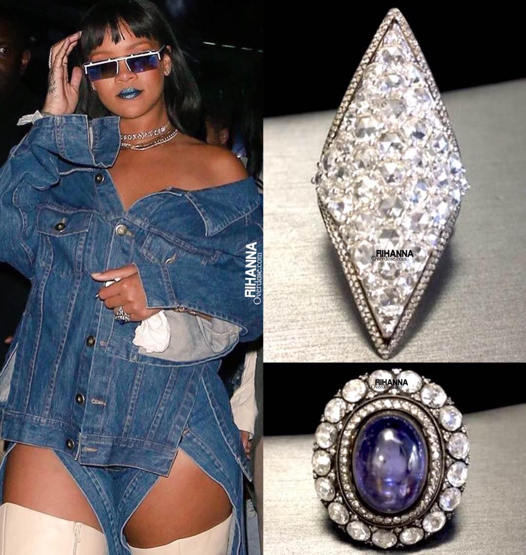 Rihanna wore Gilan diamond rings