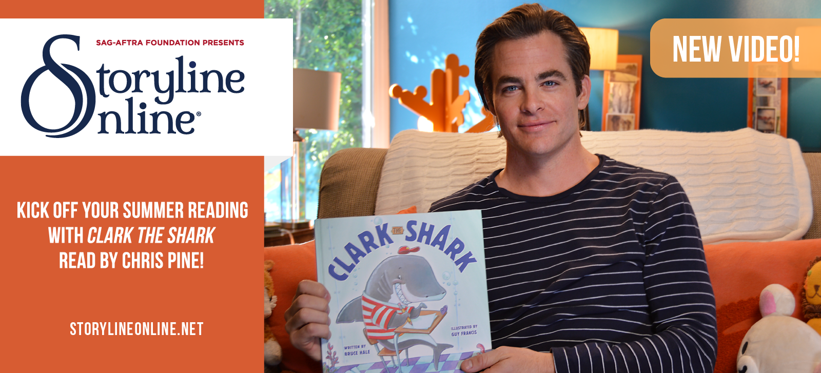 Wonder Woman_s Chris Pine Kicks Off Summer By Reading Clark the Shark for Storyline Online®