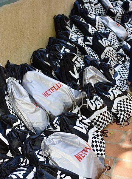 Vans/Netflex goodie bags
