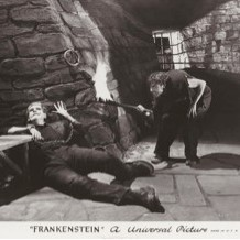 image of Boris Karloff and Dwight Frye from Frankenstein