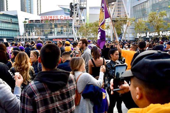 Kobe Bryant fans honor him at L.A. Live