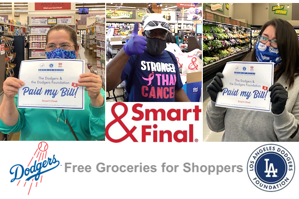 Los Angeles Dodgers and Smart & Final Surprise Shoppers With Free Groceries