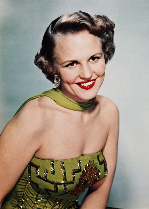 Photo of jazz singer, songwriter and actress Peggy Lee.