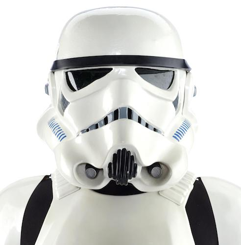 Stormtrooper costume headshot photo