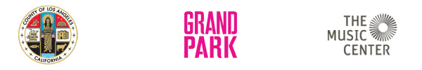 Grand Park, Music Center, and City of Los Angeles Logos
