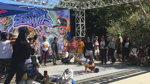 Asia Yu performs at BBoy Summit 2019 in Grand Park.