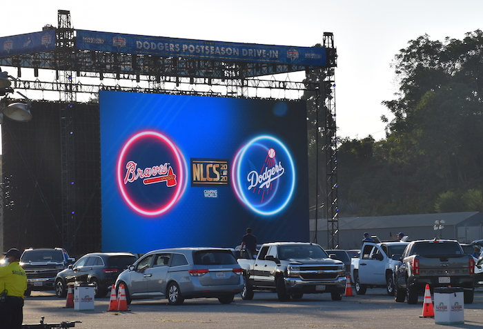 Dodgers NLCS Drive-In Viewing Party 60-foot screen