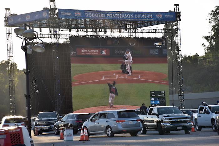 Dodgers NLCS Drive-In Viewing Party