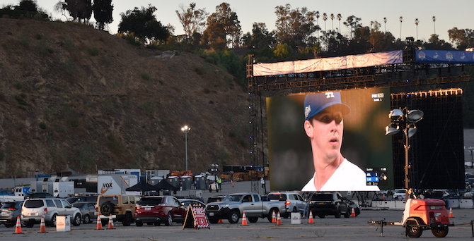 Dodgers NLCS Drive-In Viewing Party Walker Buehler