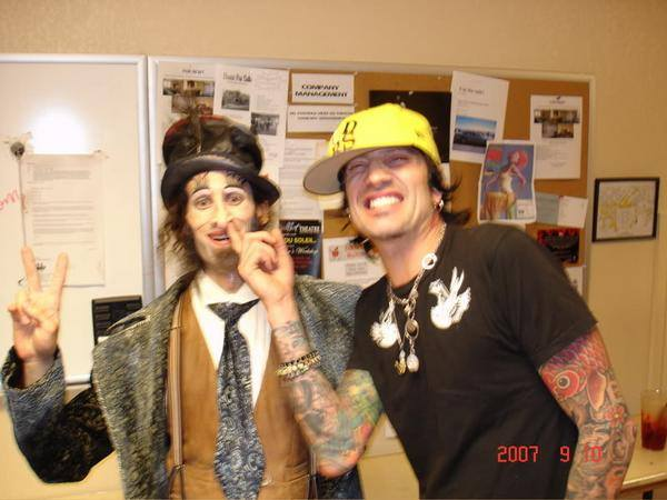 Jolly clowning around with Tommy Lee of Motley Crue