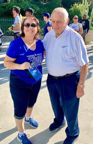 Press photographer Diana Castro and Tommy Lasorda